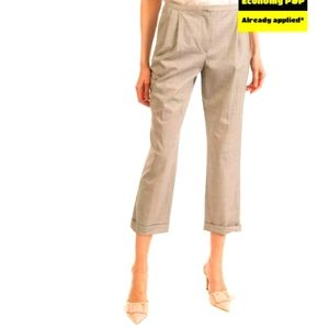 GOUSSET Tailored Cropped Wool Blend Grey Pants 44
